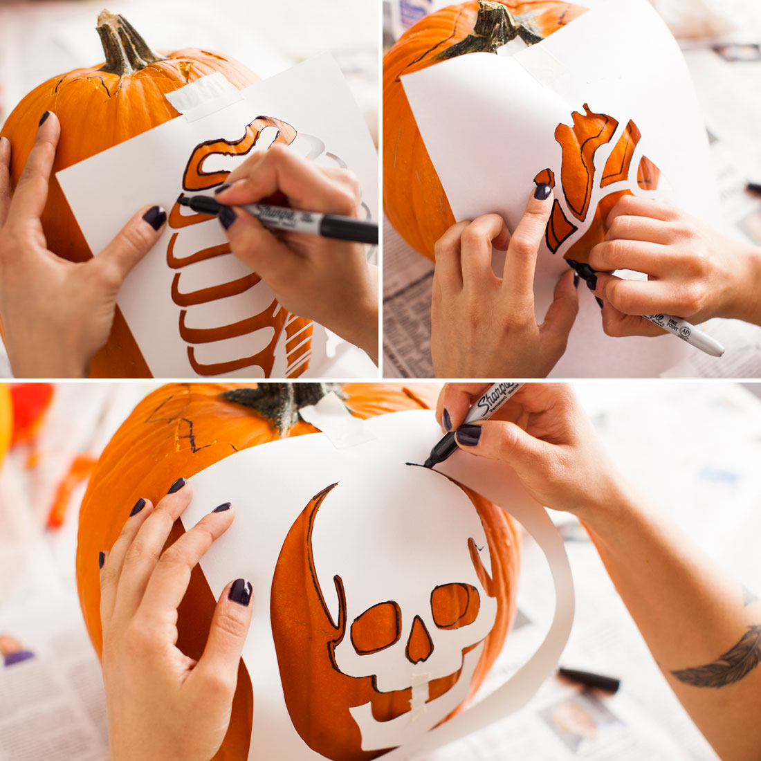Creep to this anatomy pumpkins brit co for Awesome pumpkin drawings