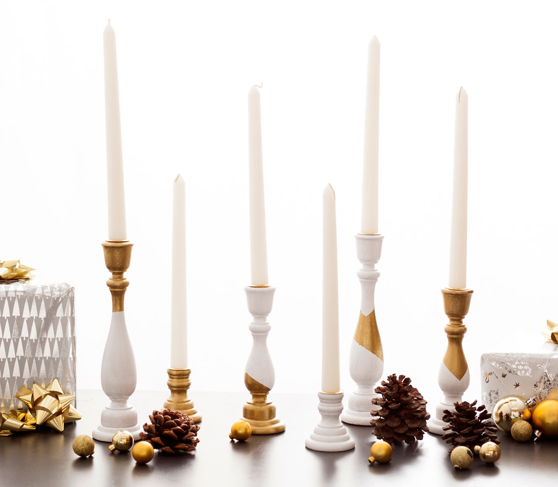 diy white and gold candle holders in under an hour brit co