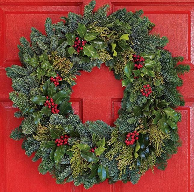 Christmas Door Wreaths Interiors Design