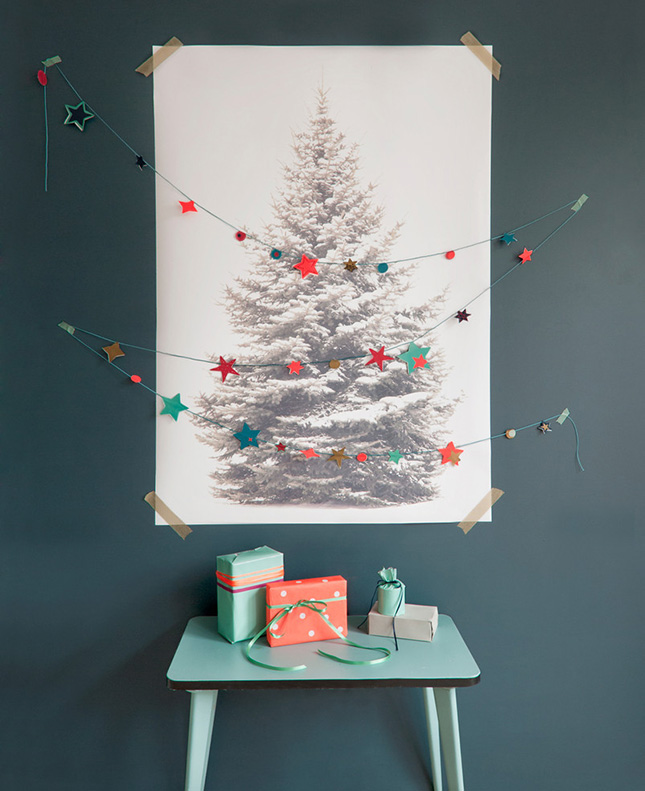 16 Clever and Creative Christmas Wall Trees | Brit + Co
