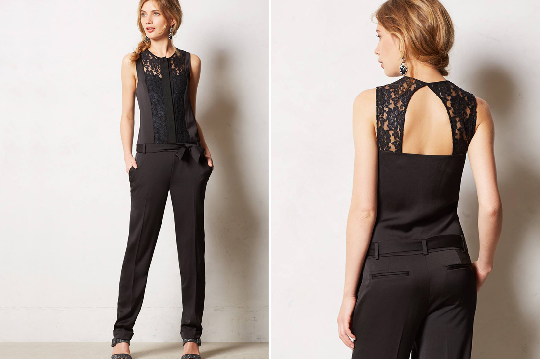 Fly by dusk jumpsuit 178 this lace top adds such a classic