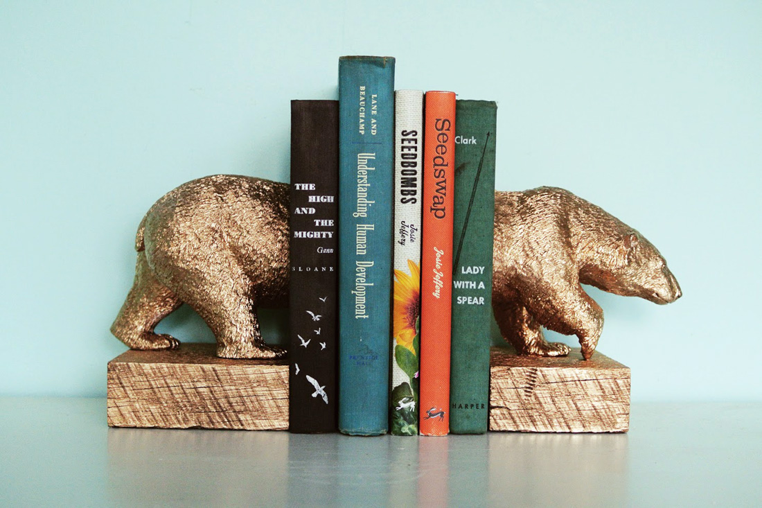 How To Make A Bookend : How to make gilded polar bear bookends brit co