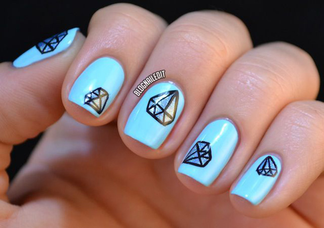 Diamond Nail Art : Done with 3D nail art? Ditch the rhinestones for ...