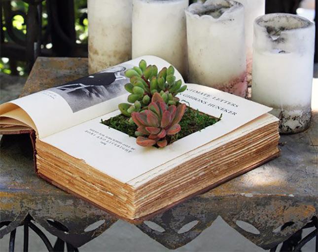 18 idee creative per riciclare i libri fai da te creativo for Idee per realizzare una fioriera