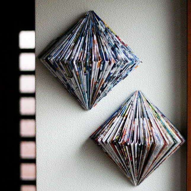 Diy Wall Art Using Newspaper : Simple diys to repurpose those old stacks of magazines