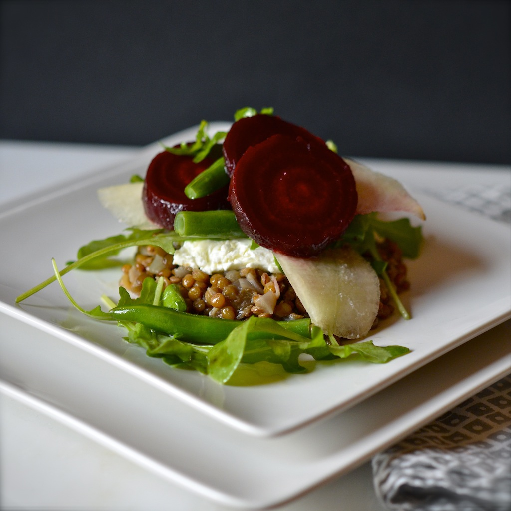 Warm Lentil Salad with Roasted Beets and Goat Cheese : Whether you ...