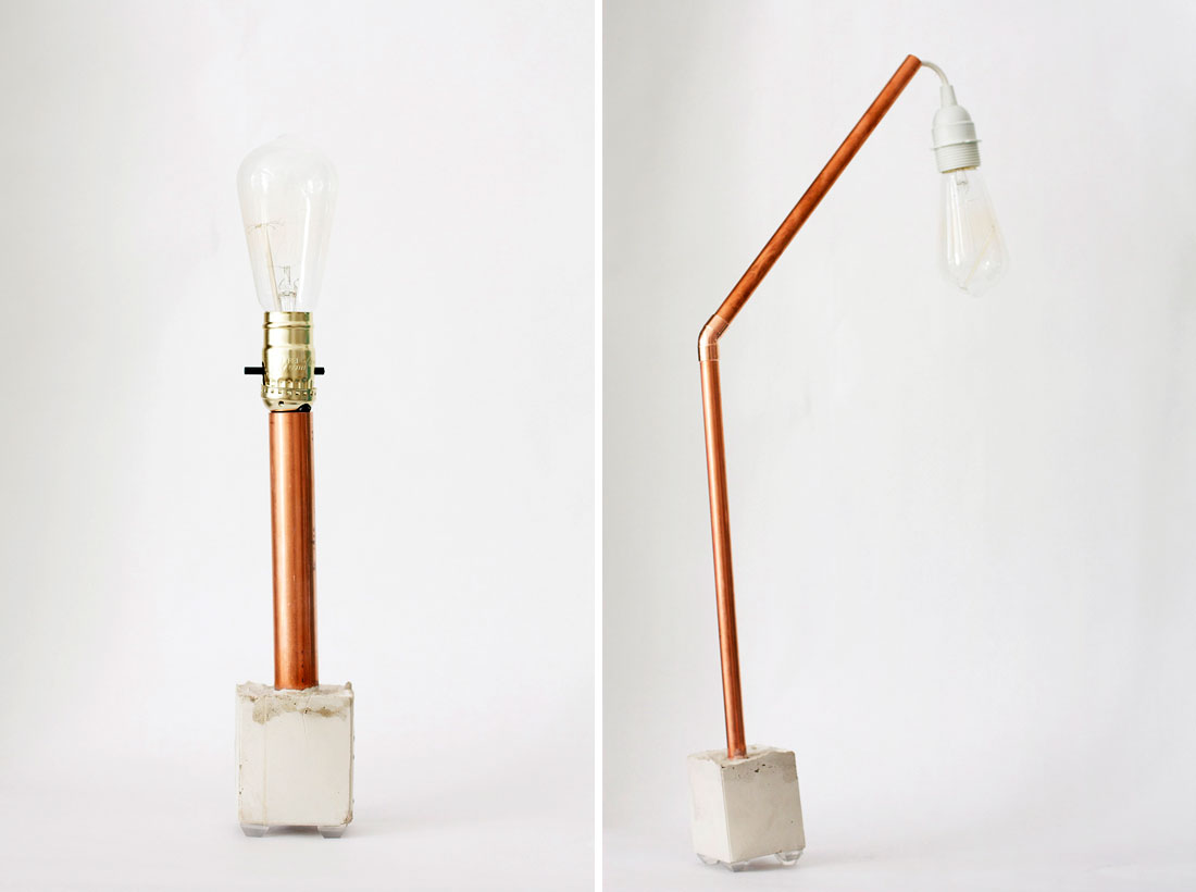 Let there be light 2 ways to make a copper concrete for Diy concrete lamp
