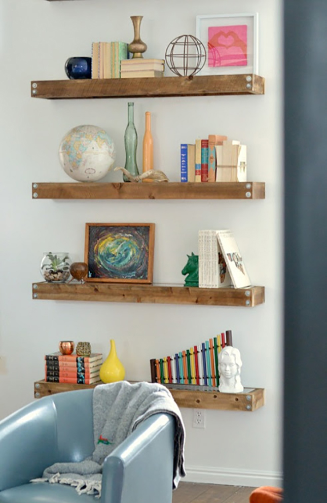 Industrial Modern Floating Shelves : There is a little more to ...