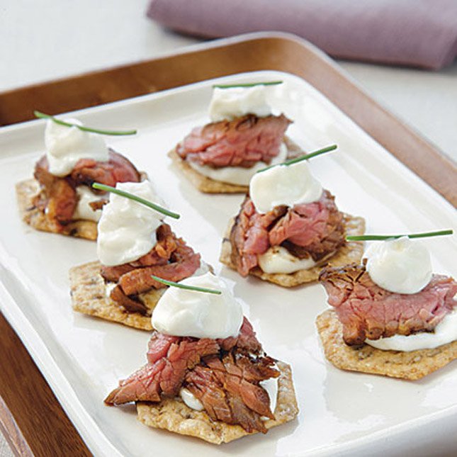 ... flank steak with a wasabi mayo for a perfect balance of flavor in