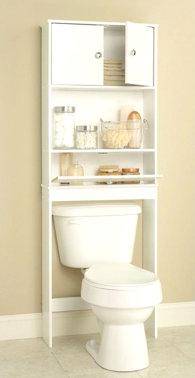 Amazing Over The Toilet Bathroom Storage Cabinet Shelves Rack White Pictures