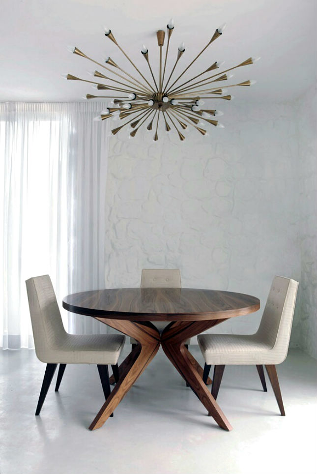 24 mid century modern interior decor ideas brit co - Contemporary chandeliers for dining room decor ...