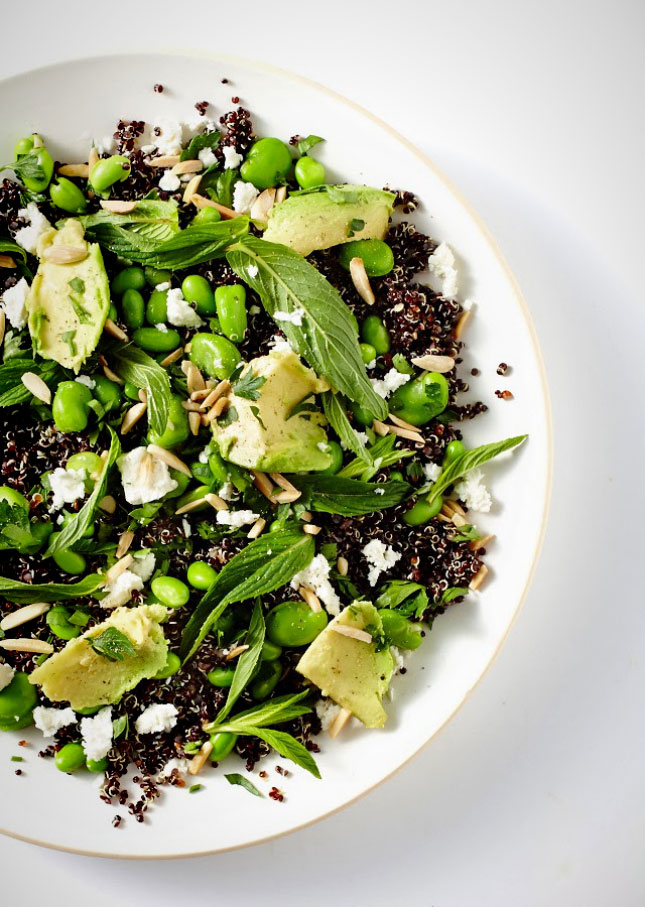 12. Spring Quinoa With Avocado and Edamame : Using black quinoa really ...
