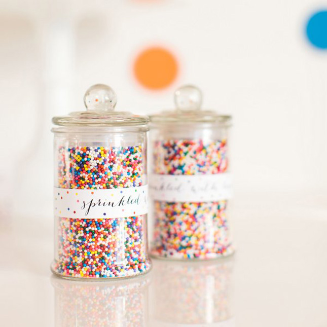Diy mason jar baby shower favors - 10 Mini Apothecary Jars With Sprinkles Set Of 12 For 35 Fill Some