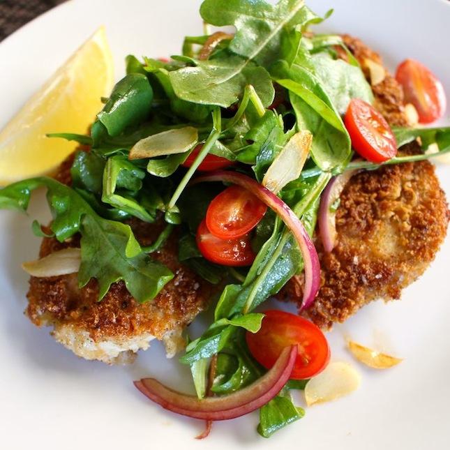 Chicken Milanese : It's hard to pick a main dish arugula wouldn ...