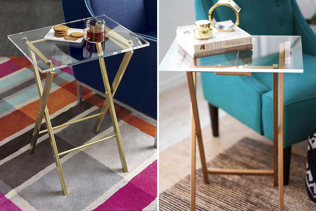 Diy copycat make this 149 cb2 tray for just 60 brit co for How to make lucite furniture