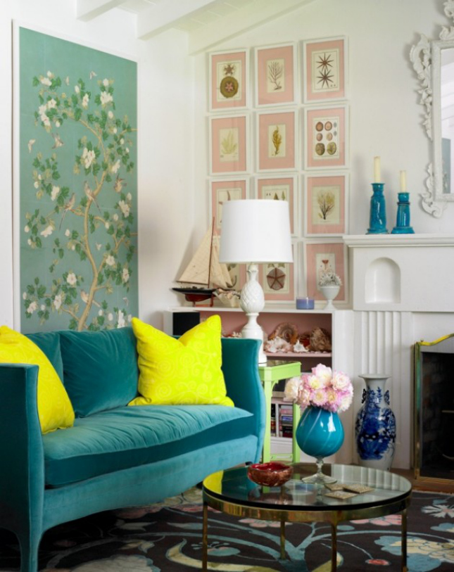 30 tasteful ways to add colorful accents to your home for Neon decoration interieur