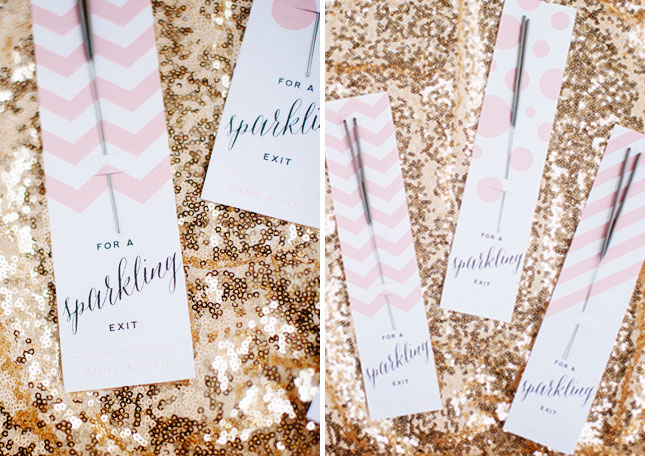 16. Printable Sparkler Packs : Help your guests send you off right