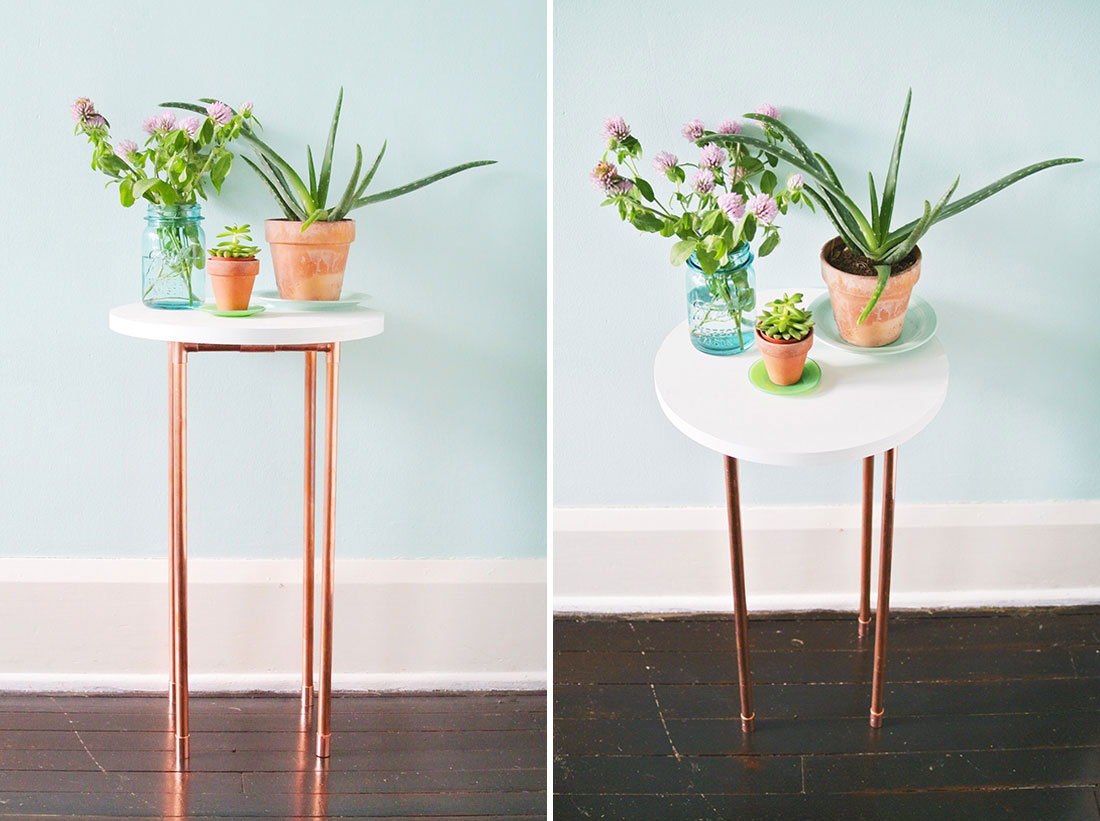 This Diy Copper Pipe Side Table Is Perfect For Small