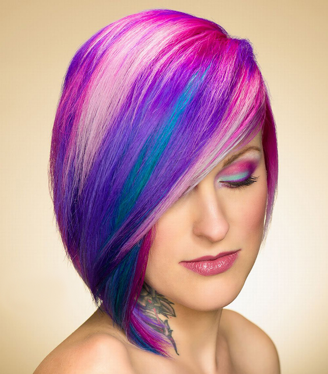 24 Colorful Hairstyles To Inspire Your Next Dye Job  Brit  Co