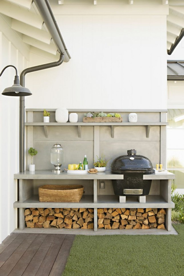 25 of the most gorgeous outdoor kitchens brit co for Ready made outdoor kitchen