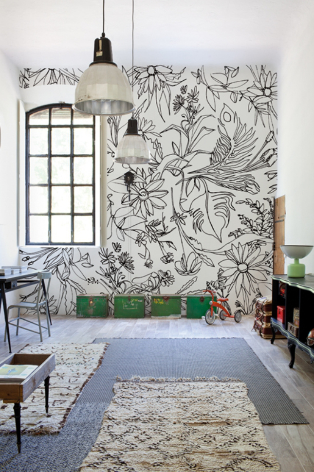 48 eye catching wall murals to buy or diy brit co