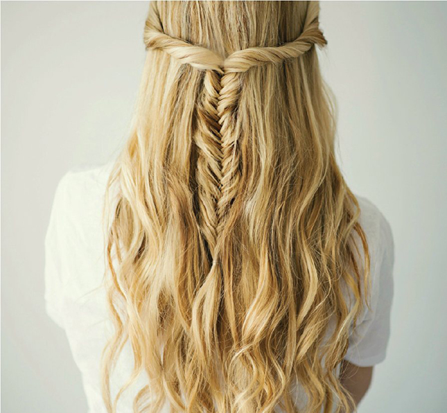 10 New Ways to Rock a Fishtail Braid Brit + Co - Hair Style For Girls For Wedding Step By Step