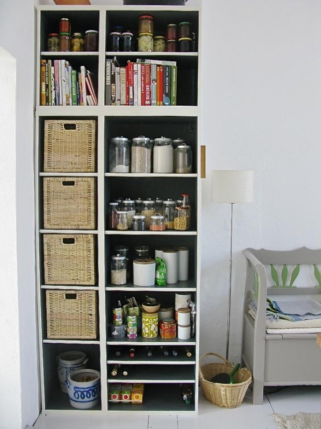 14 open kitchen pantry with a couple customized besta shelves and