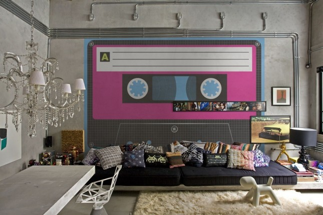 48 eye catching wall murals to buy or diy brit co. Black Bedroom Furniture Sets. Home Design Ideas