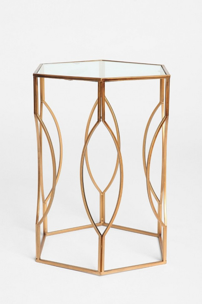 Hexagon Side Table ($99): Cooler than a breeze on a beach, this ...