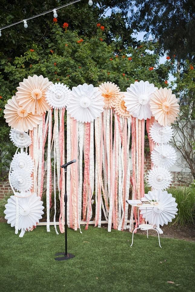 20 DIY Paper Wedding Backdrops Brit Co