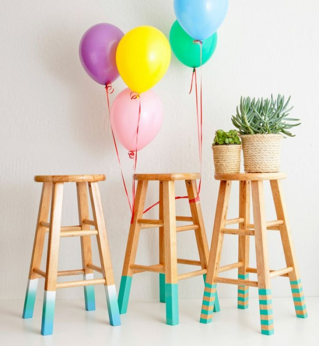 12 bright ways to give your bar stools a serious upgrade - Bright colored bar stools ...