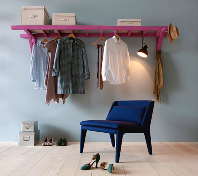 Small space solution 15 diy garment racks brit co - How to unshrink clothes three easy solutions ...