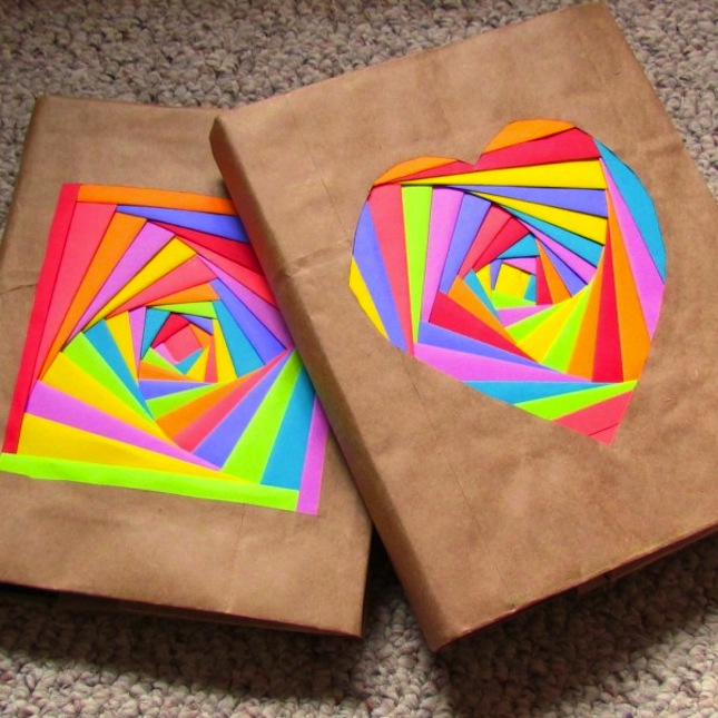 How To Wrap A Book Cover In Paper : New ways to cover your books brit co