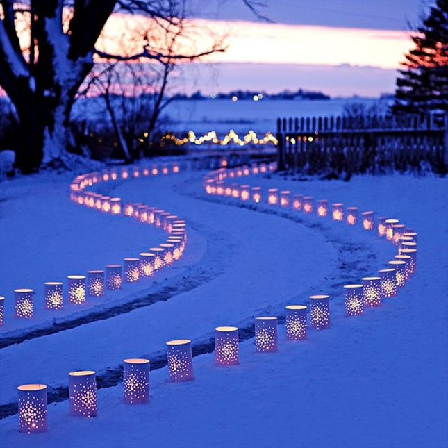 14 diy luminaries to make your party glow brit co for Making luminaries