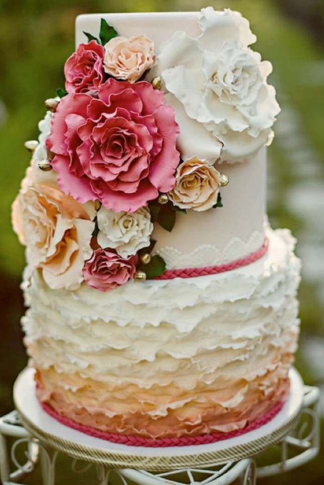 Wedding Cake Ideas For Summer Wedding : 23 Wedding Cakes Decorated With Flowers Brit + Co