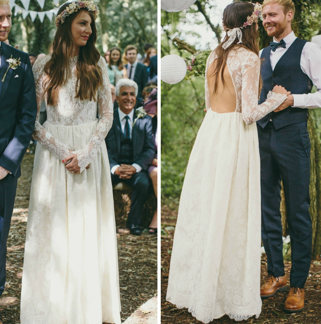 Dress we are also swooning over her floral crown via love my dress