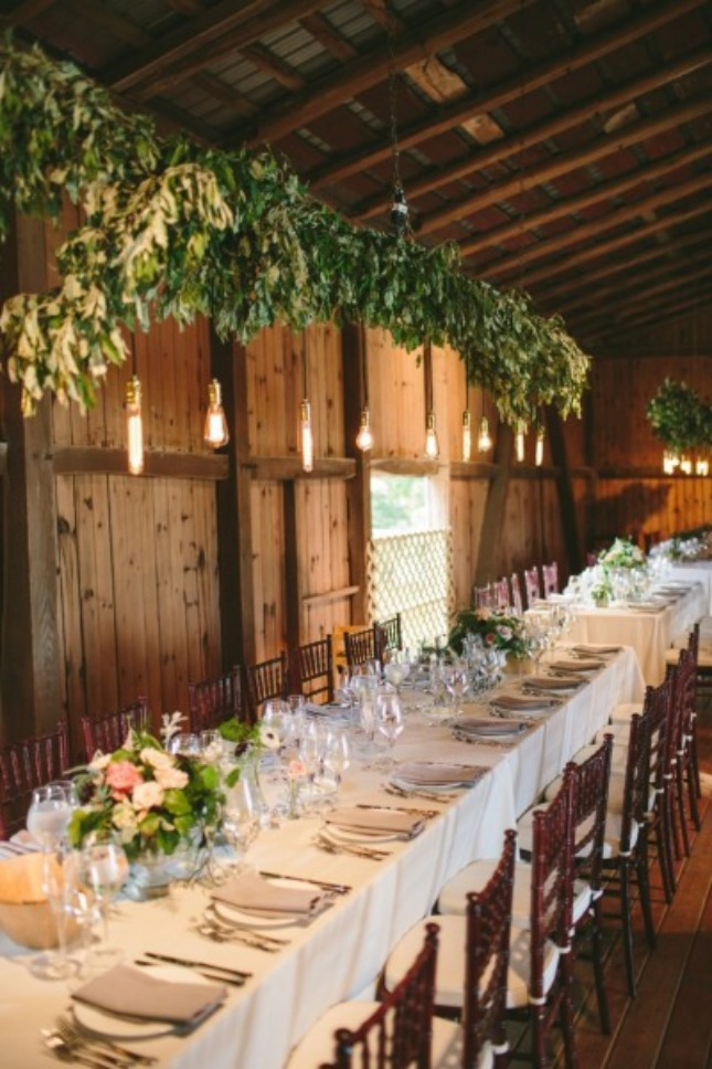 13 Show Stopping Long Reception Tables For Your Big Day