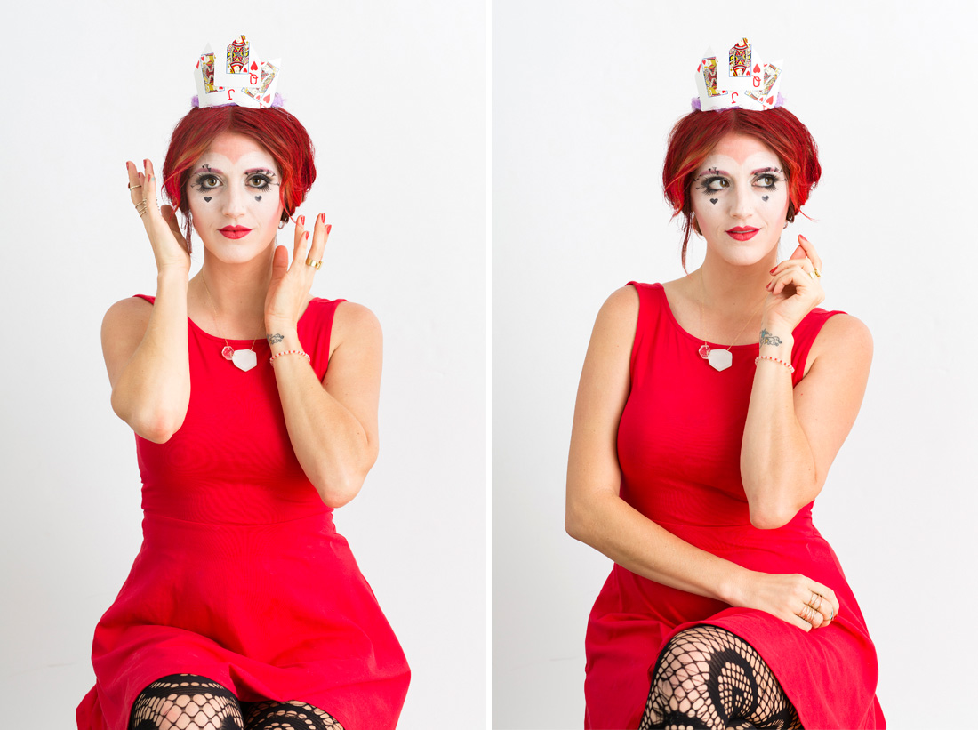 how to make a homemade queen of hearts costume