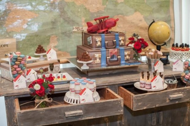 With This Vintage Airplane Theme Via Hostess With The Mostess