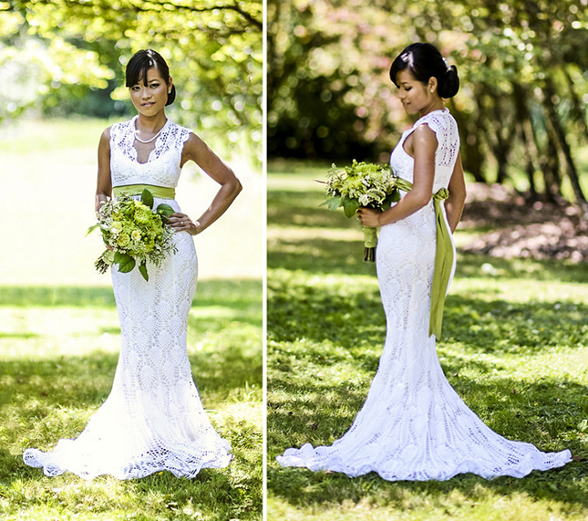 15 wedding dresses you won t believe are crocheted brit co for Crochet wedding dress pattern
