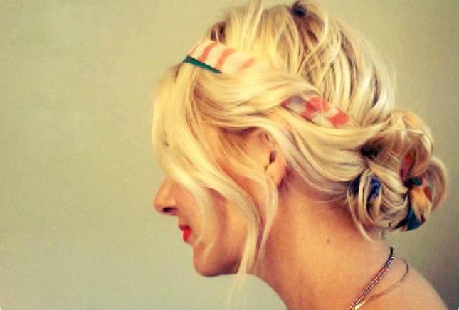 17. Scarf Updo : We clearly love incorporating outside objects into