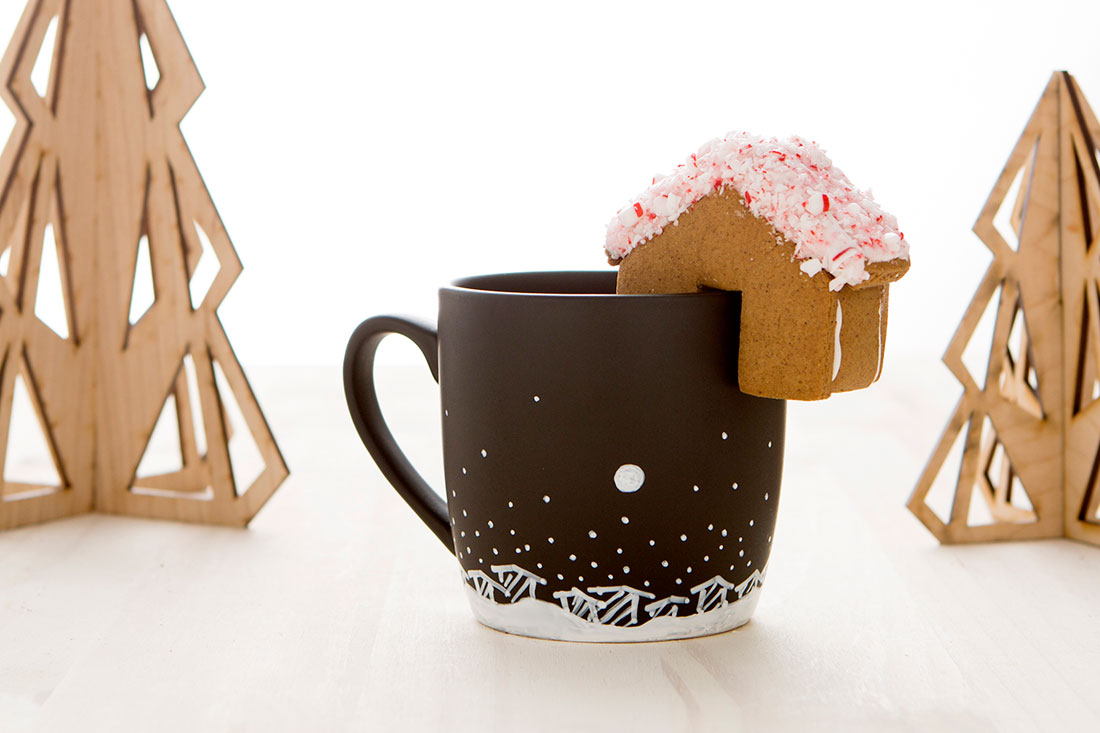 New in the Shop: Holiday Mug and Mini Gingerbread House ...