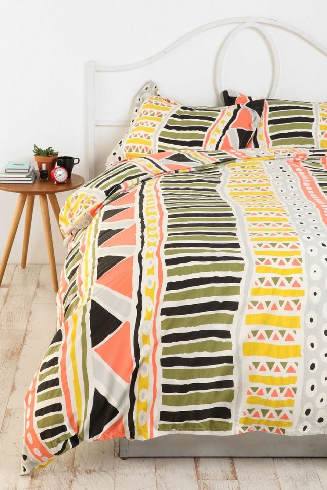 20 modern duvet covers to make over your bedroom brit co for Aztec bedroom ideas