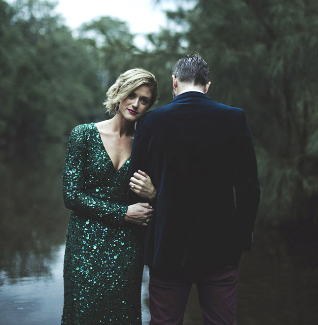 Green wedding gown stray from tradition and embrace the season