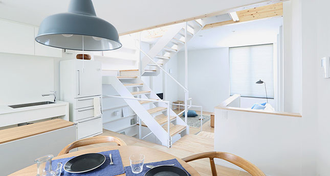 Vertical Interior Design Furniture ~ Muji s micro apartment is the small space of our dreams