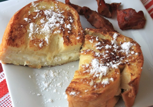 Cream Cheese Stuffed French Toast : Stuffed French toast was a ...