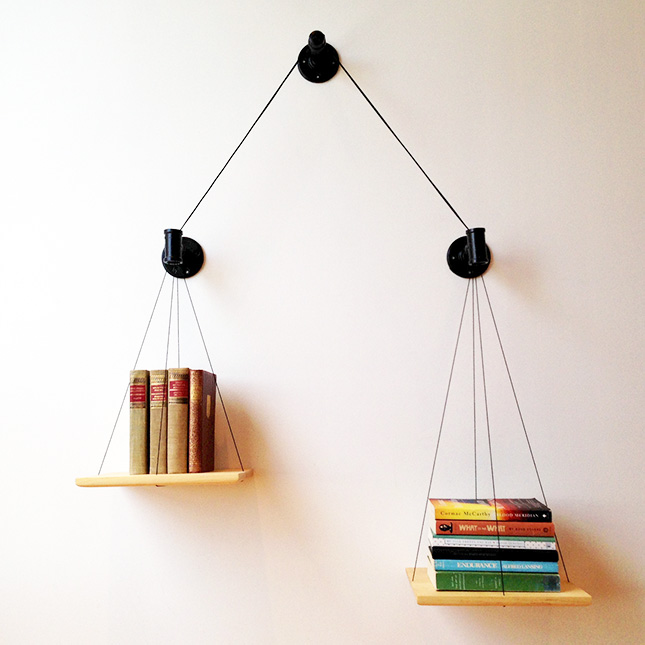 books-hanging