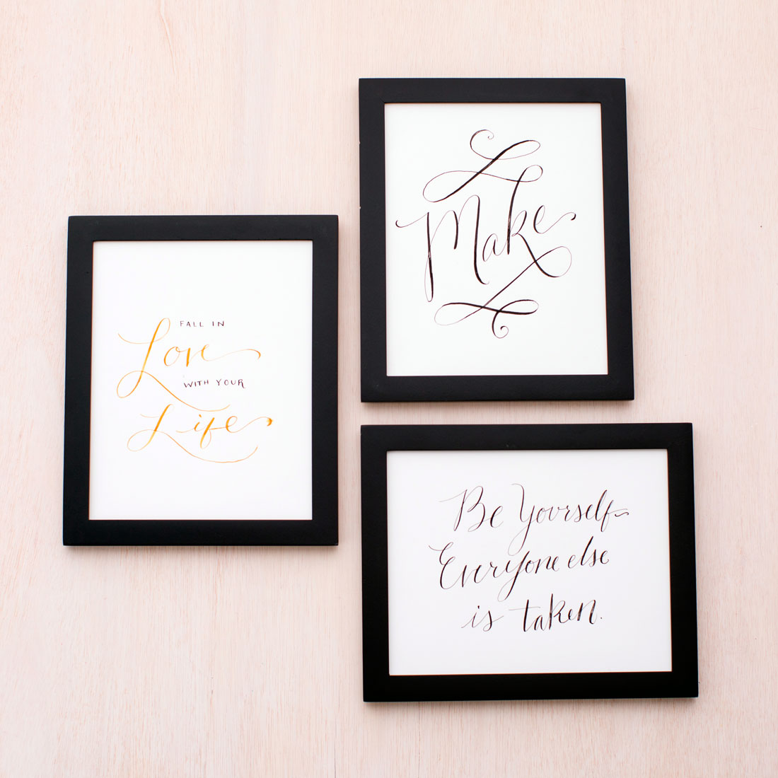 How to make calligraphy wall art more hand drawn