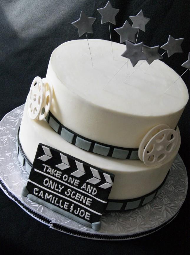Movie grooms cake