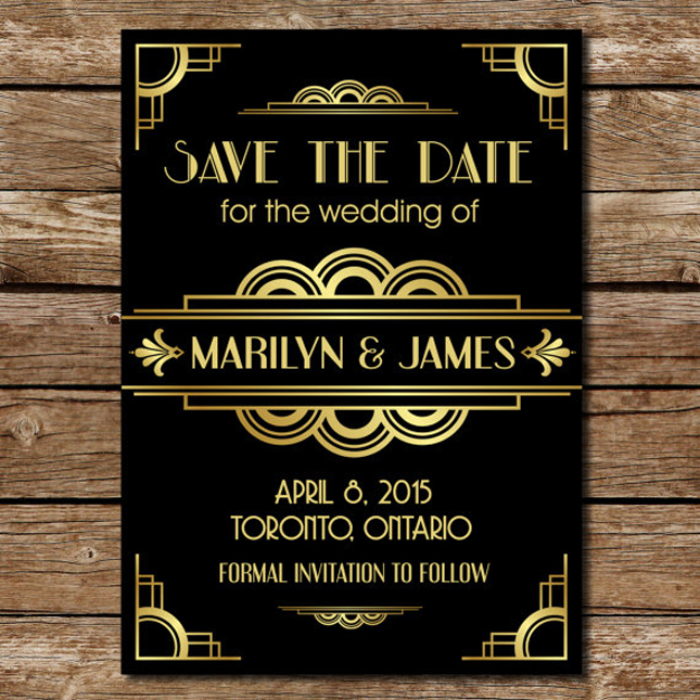 Roaring 20S Invitations with perfect invitations layout